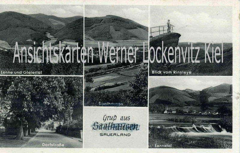 Ansichtskarte Lennestadt-Saalhausen Ortsansichten Dorfstraße