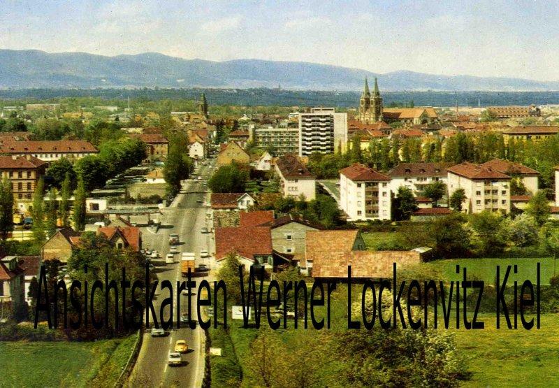 Ansichtskarte Landau Pfalz Ortsansicht Blick vom Ebenberg