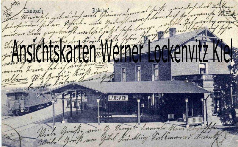 Ansichtskarte Laubach Bahnhof