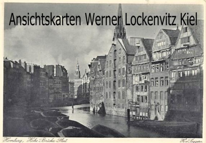 Ansichtskarte Hamburg Hohe Brücke-Fleet