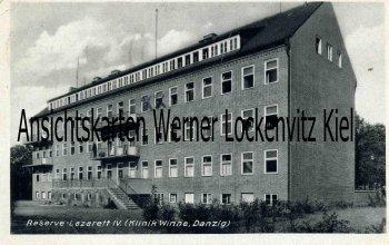 Ansichtskarte Polen Danzig Gdańsk Klinik Winne Reserve-Lazarett IV.