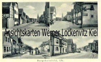 Ansichtskarte Bergrheinfeld Ufr. Straßenansichten