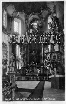 Ansichtskarte Bad Staffelstein-Vierzehnheiligen Basilika Hochaltar und Kanzel mit LPStpl.