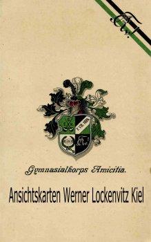 Einladungskarte Gymnasialkorps Amicitia Bamberg 96. Stiftungsfest Studentica Wappen