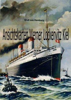 Ansichtskarte Hamburg Dampfer Leporello