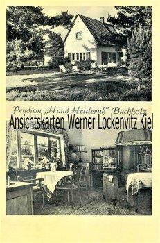 Ansichtskarte Buchholz in der Nordheide Pension Haus Heideruh Bes. A. Eckstein