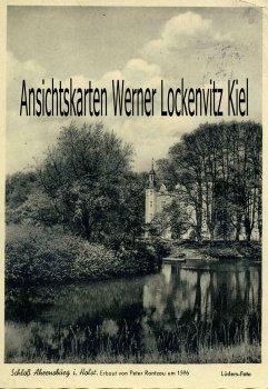 Ansichtskarte Schloß mit Schloßteich in Ahrensburg