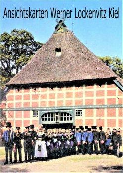 Ansichtskarte Scheeßel Alte Volkstracht Hochzeitszug auf dem Meyerhof