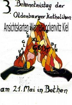 Ansichtskarte Cloppenburg-Bethen 3. Bekenntnistag der Oldenburgr Katholiken