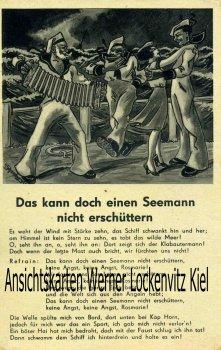 Ansichtskarte Liedkarte Das kann doch einen Seemann nicht erschüttern