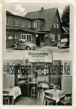 Ansichtskarte Groß Sarau Gaststätte Zum grauen Hecht Bes. Frl. Marga Juckel