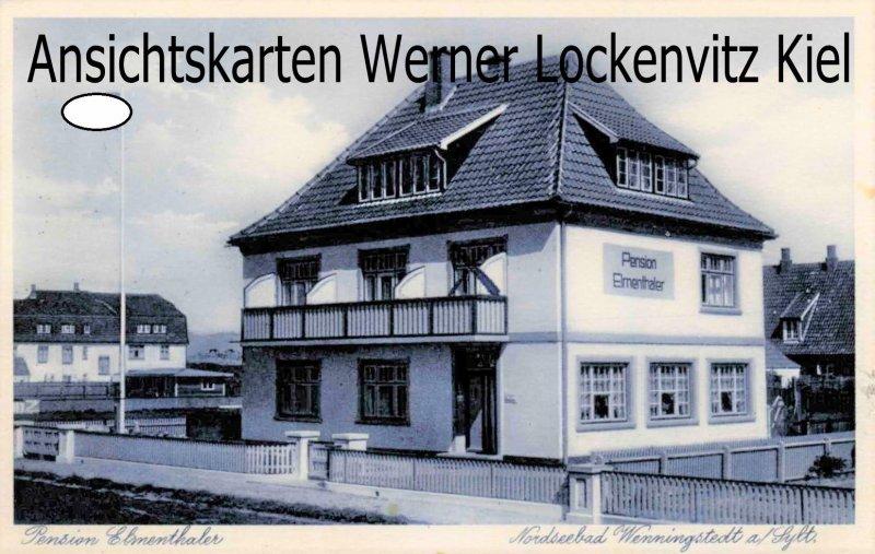 Ansichtskarte Wenningstedt auf Sylt Pension Elmenthaler