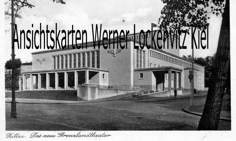Ansichtskarte Zittau Das neue Grenzlandtheater