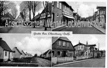 Ansichtskarte Grube Ostholstein Ortsstraßen