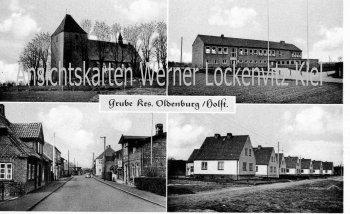 Ansichtskarte Grube Ostholstein Kirche Siedlung Ortsstraße