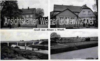Ansichtskarte Datteln-Ahsen Gasthof Kemmann