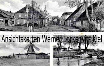 Ansichtskarte Jevenstedt Ortsstraße Mühle Brücke