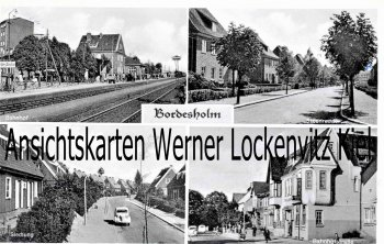 Ansichtskarte Bordesholm Bahnhof Siedlung Bahnhofstraße Steenredder