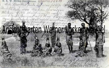 Ansichtskarte Deutsch-Südwestafrika DSW Feld-Herreros