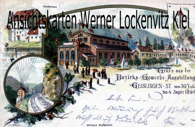 Ansichtskarte Geislingen an der Steige Bezirks-Gewerbe-Ausstellung 1898 Ganzsache