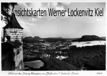 Ansichtskarte Königstein Sächsische Schweiz Festung zum Pfaffenstein