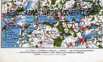 Ansichtskarte Landkarte Plön Malente Eutin map