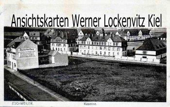 Ansichtskarte Eschweiler Kaserne Wandreklame Deutsches Haus