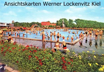 Ansichtskarte Delmenhorst Stadtbad Freibad