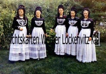 Ansichtskarte Borkum Junge Friesinnen in Tracht