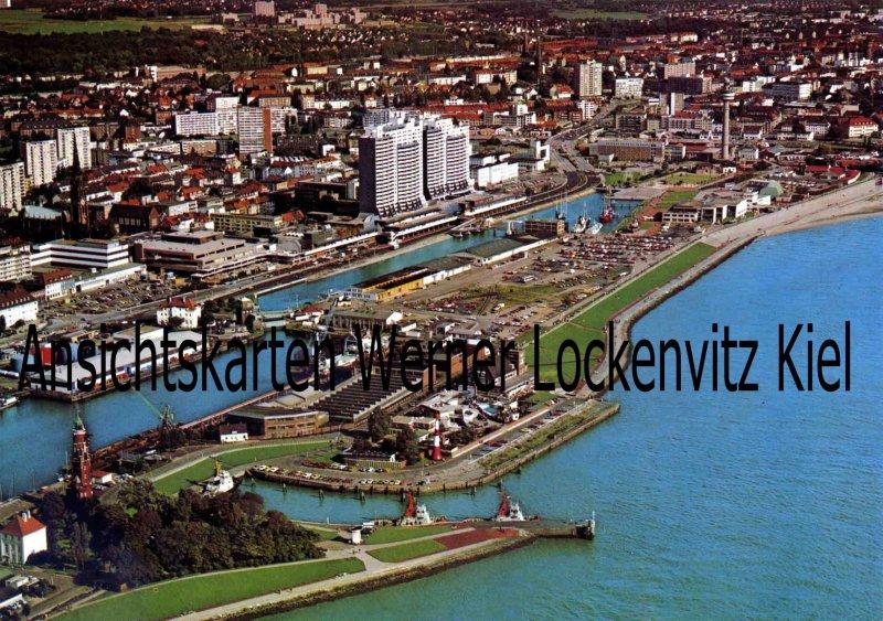 Ansichtskarte Bremerhaven Luftaufnahme