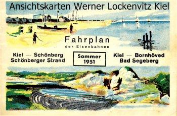 Fahrplan Kiel-Schönberg Kiel-Bornhöved Segeberg von 1951