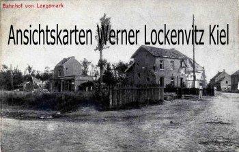 Ansichtskarte Belgien Bahnhof von Langemark Kriegs-Erinnerungs-Karte