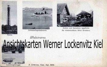 Ansichtskarte Finnland Suomi Walsörarne Valsöarna Valassaaret Lebensrettung Seerettung Leuchtturm
