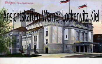 Ansichtskarte Stuttgart Interimstheater