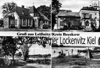 Ansichtskarte Friedland-Leißnitz Niederlausitz Schule Pflegeheim See