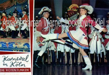 Ansichtskarte Köln Die roten Funken Karneval