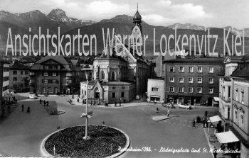 Ansichtskarte Rosenheim Ludwigsplatz und St. Nicolauskirche