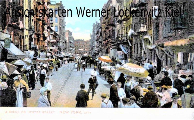 Ansichtskarte USA New York A Scene on Hester Street Jüdisches Viertel