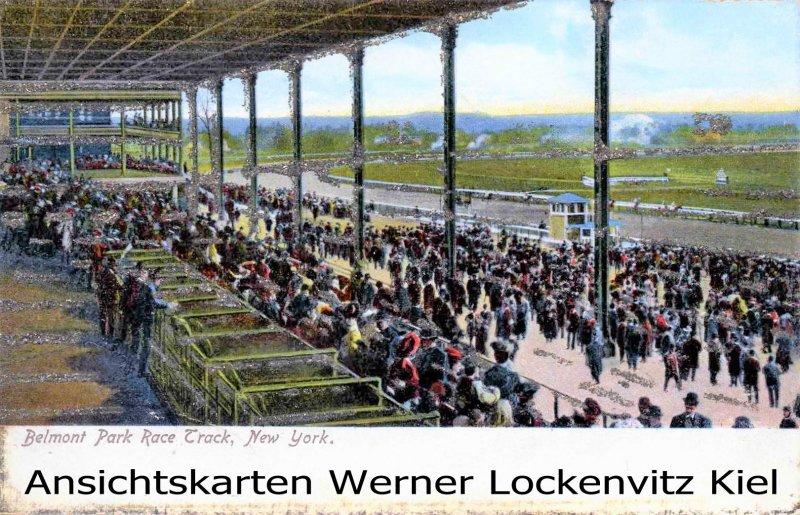 Ansichtskarte USA New York Belmont Park Race Track Glimmer
