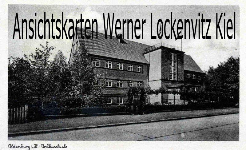 Ansichtskarte Oldenburg in Holstein Volksschule