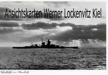 Ansichtskarte Schlachtschiff im Abendlicht