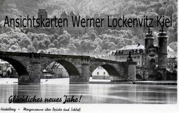 Ansichtskarte Heidelberg Morgensonne über Brücke und Schloß Glückliches neues Jahr!