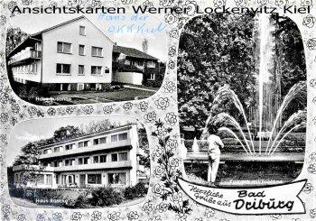 Ansichtskarte Bad Driburg Haus Rasche und Susanne Fontäne