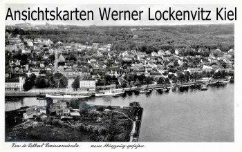 Ansichtskarte Polen Pommern Swinemünde Świnoujście Ortsansicht vom Flugzeug aus