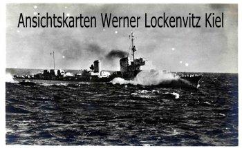 Ansichtskarte Zerstörer in der Nordsee