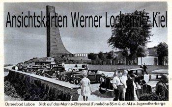 Ansichtskarte Ostseebad Laboe Ehrenmal und Jugendherberge