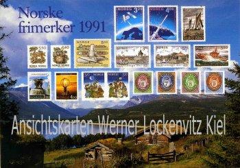 Ansichtskarte Norwegen Norge Norsk frimerker 1991