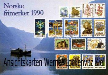 Ansichtskarte Norwegen Norge Norsk frimerker 1990