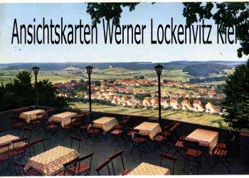 Ansichtskarte Blick von der Terrasse der Burggaststätte Bes. Friedrich Lucas in Einbeck-Kreiensen