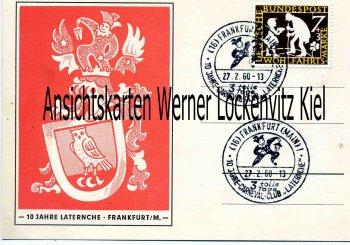 Carneval-Club Laternche mit Sonderstempel Sonderkarte Frankfurt am Main